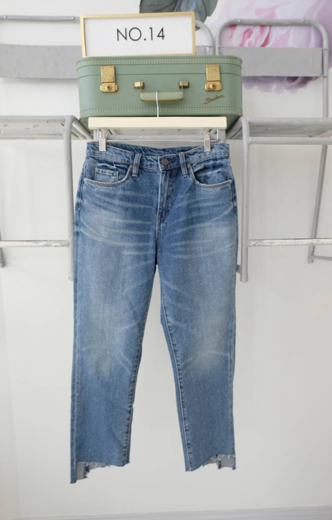 Two Tone Straight Leg Jeans
