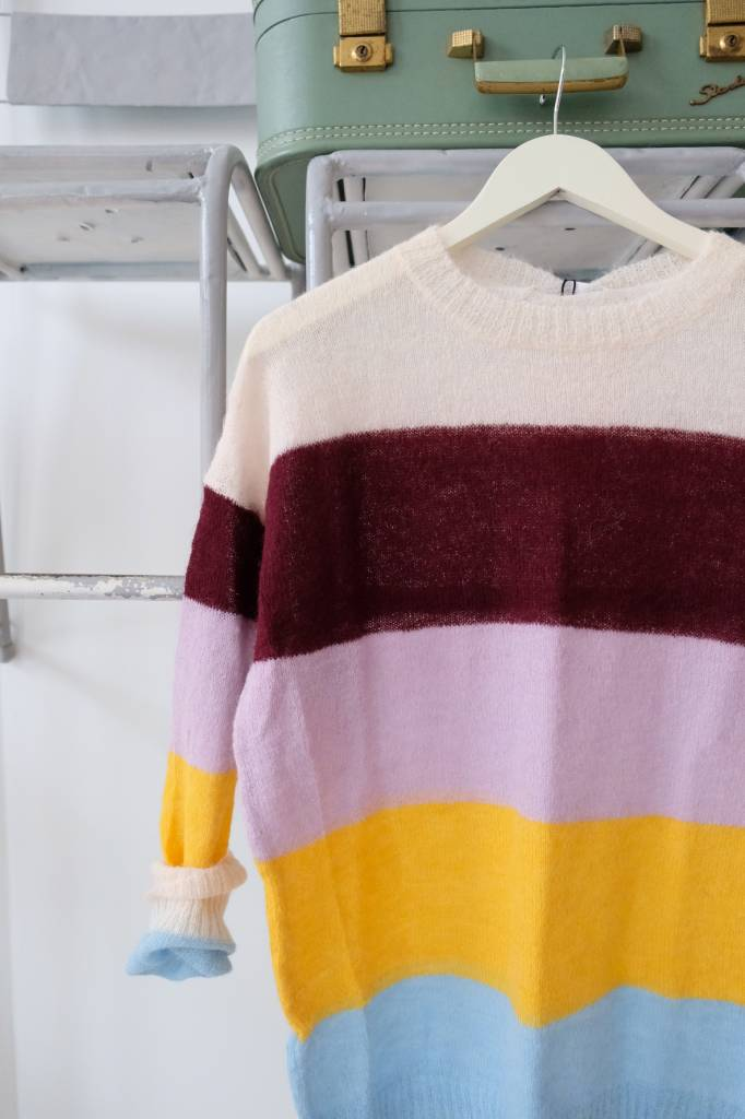 Colorblock Lightweight Sweater