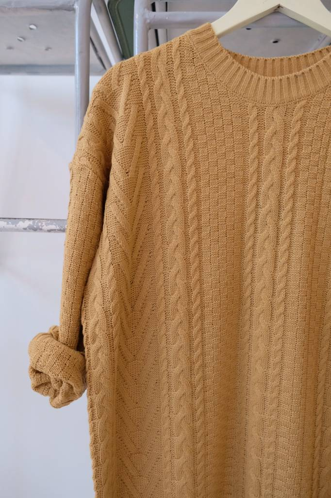 Carmel Cableknit Sweater Dress