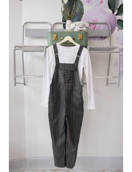 Pin Stripe Overalls