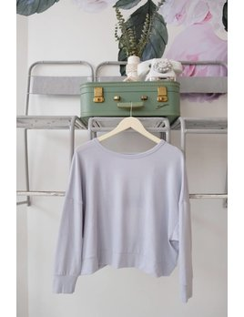 BLACK SWAN Grey Cutout Back Dolman Sleeve Sweatshirt