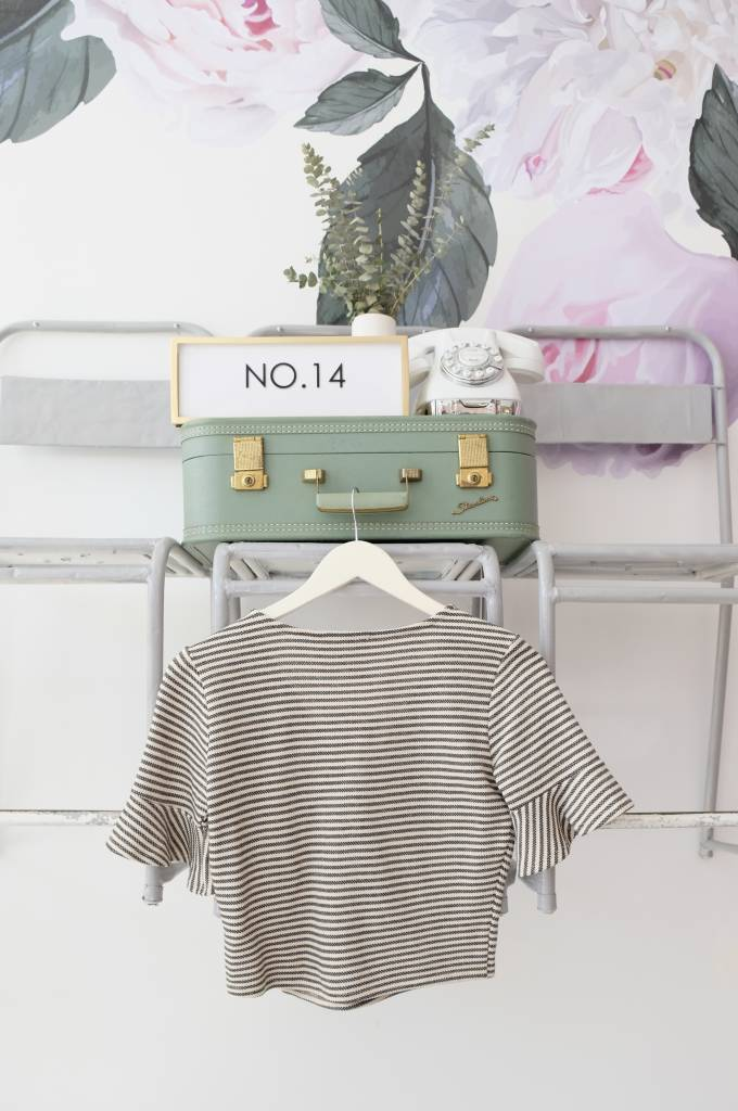 Striped Buttoned Top