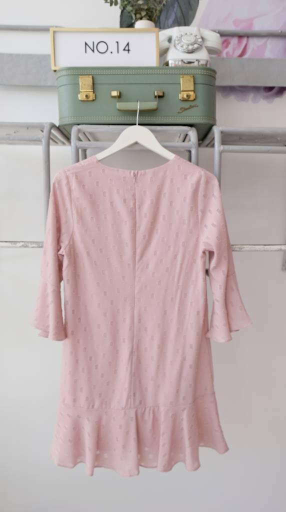 Polka Dot Ruffle Hem Dress