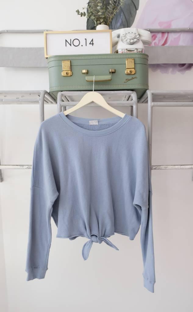 Others Follow Tie Front Sweatshirt