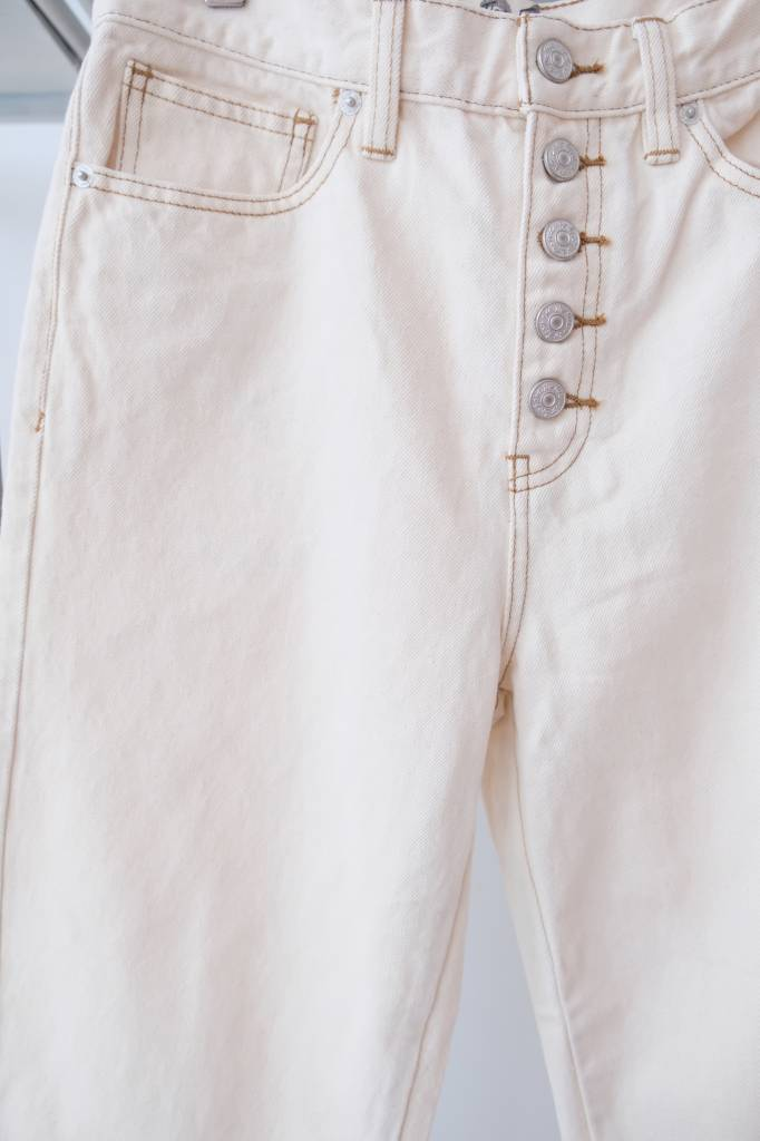 Button Up Straight Leg Jeans