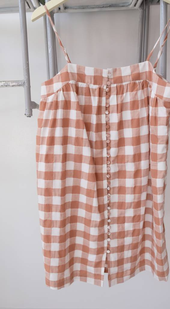 Button Down Gingham Dress
