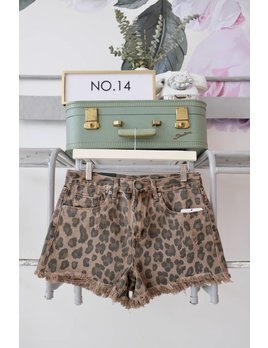 Leopard Cutoff Shorts