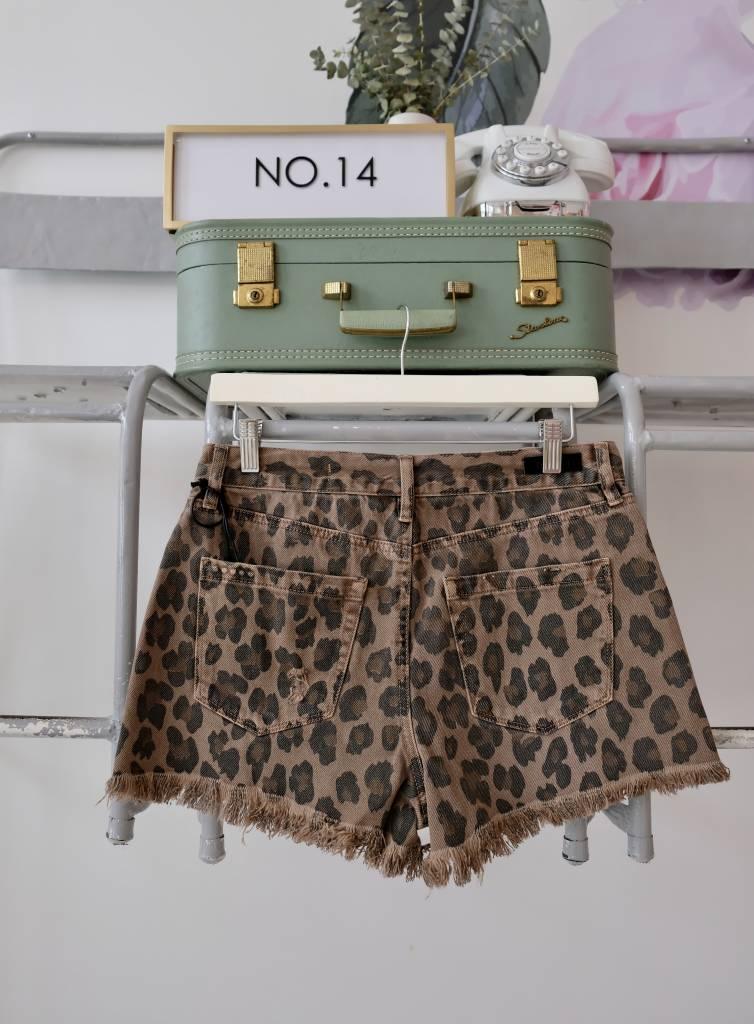 Leopard Cutoff Shorts