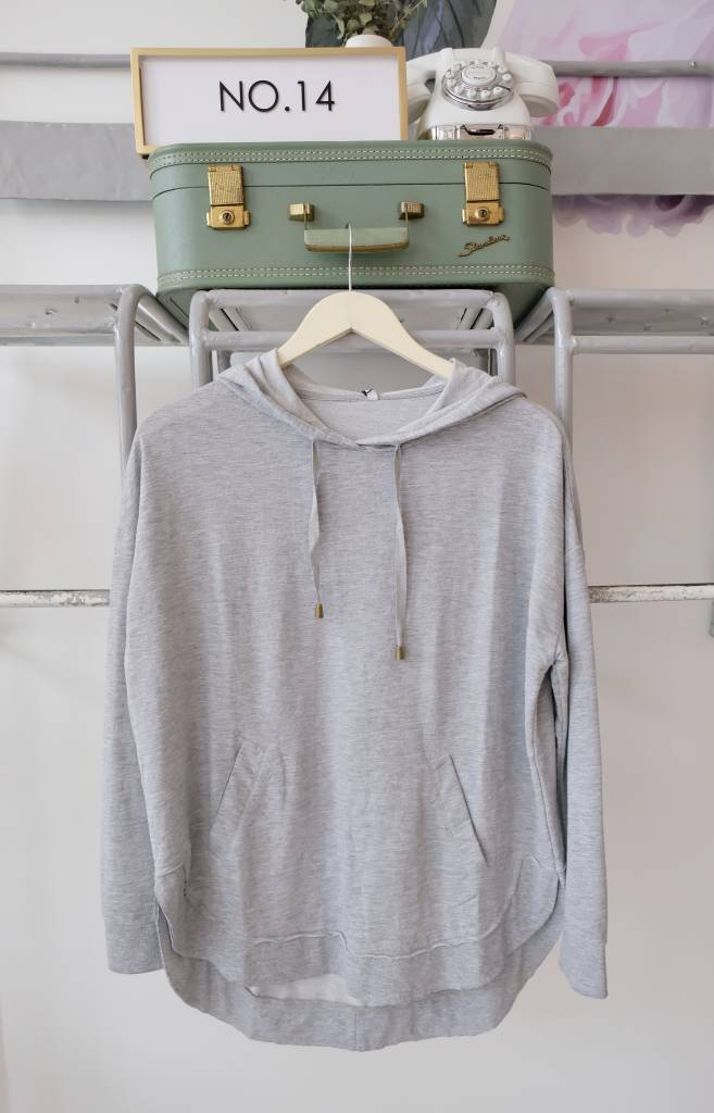 Solid Hooded Pullover