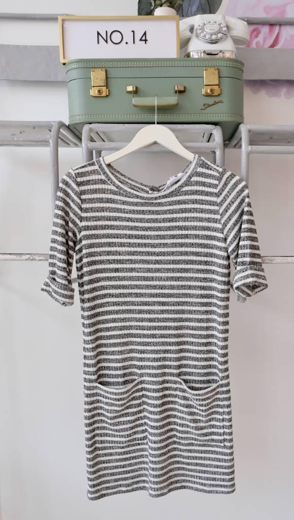 Pocket Front Striped Dress