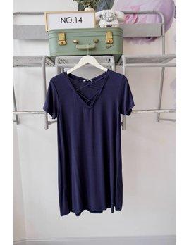 Cross Neck Tee Dress