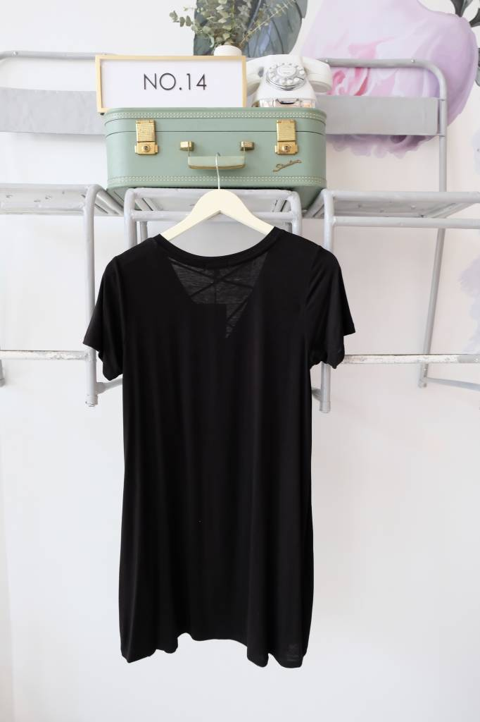 Cross Neck Tee Dress