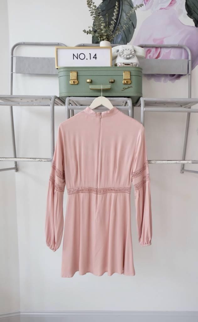 Detailed Mockneck Dress