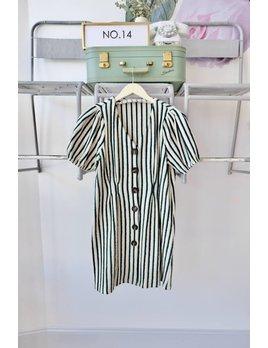 Striped Jersey Button Dress