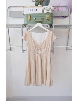 Ruched Striped Mini Dress