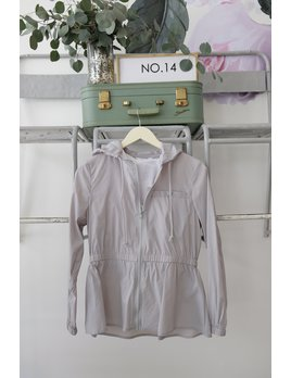 Grey Lightweight Raincoat