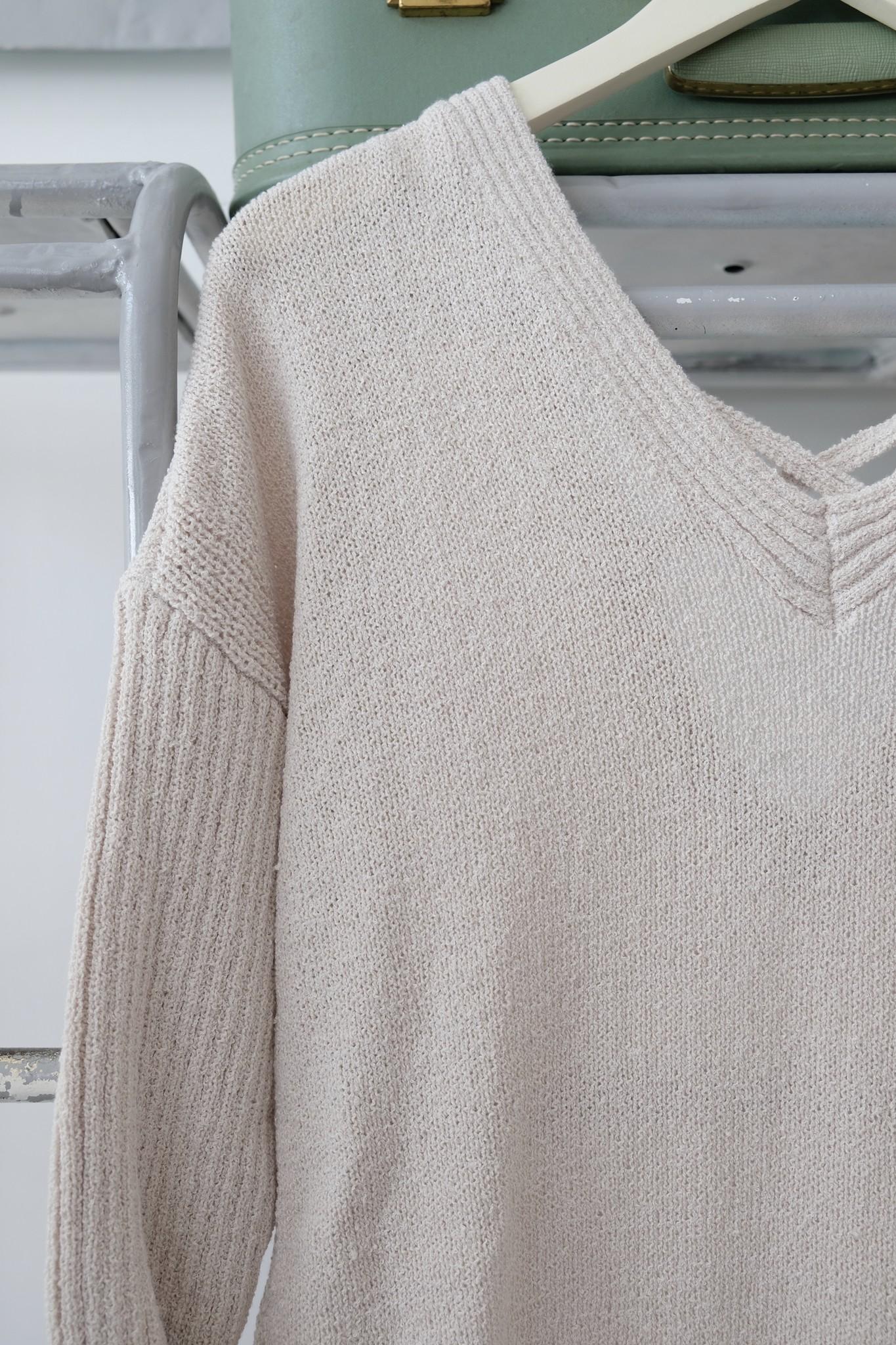 Cross Back Long Sweater