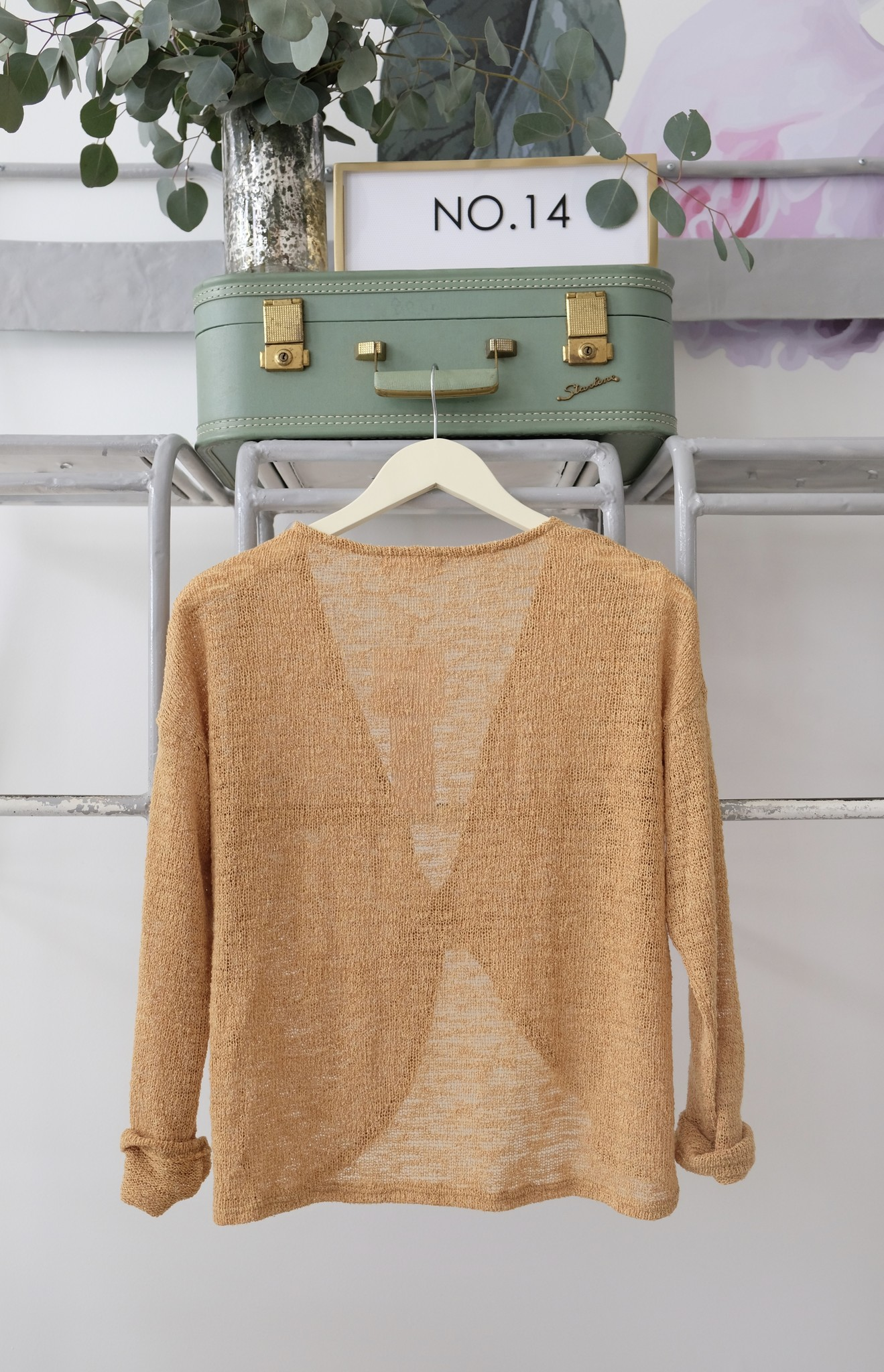 Sage the Label Knot Front Lightweight Sweater