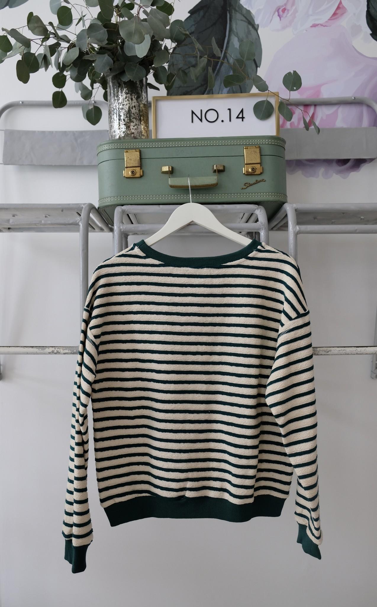 Striped Jersey Sweatshirt