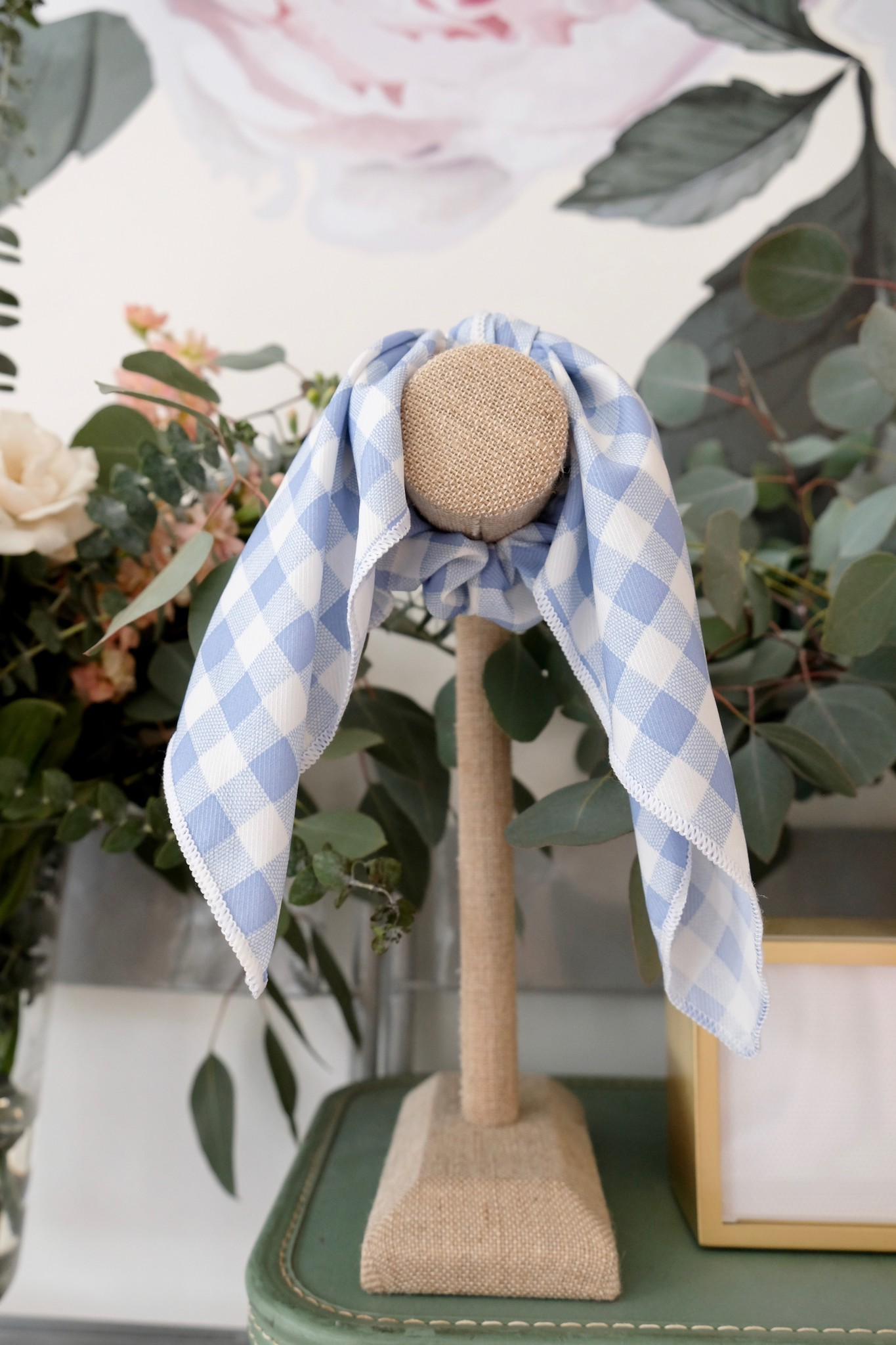 Gingham Scrunchie With Draped Tie