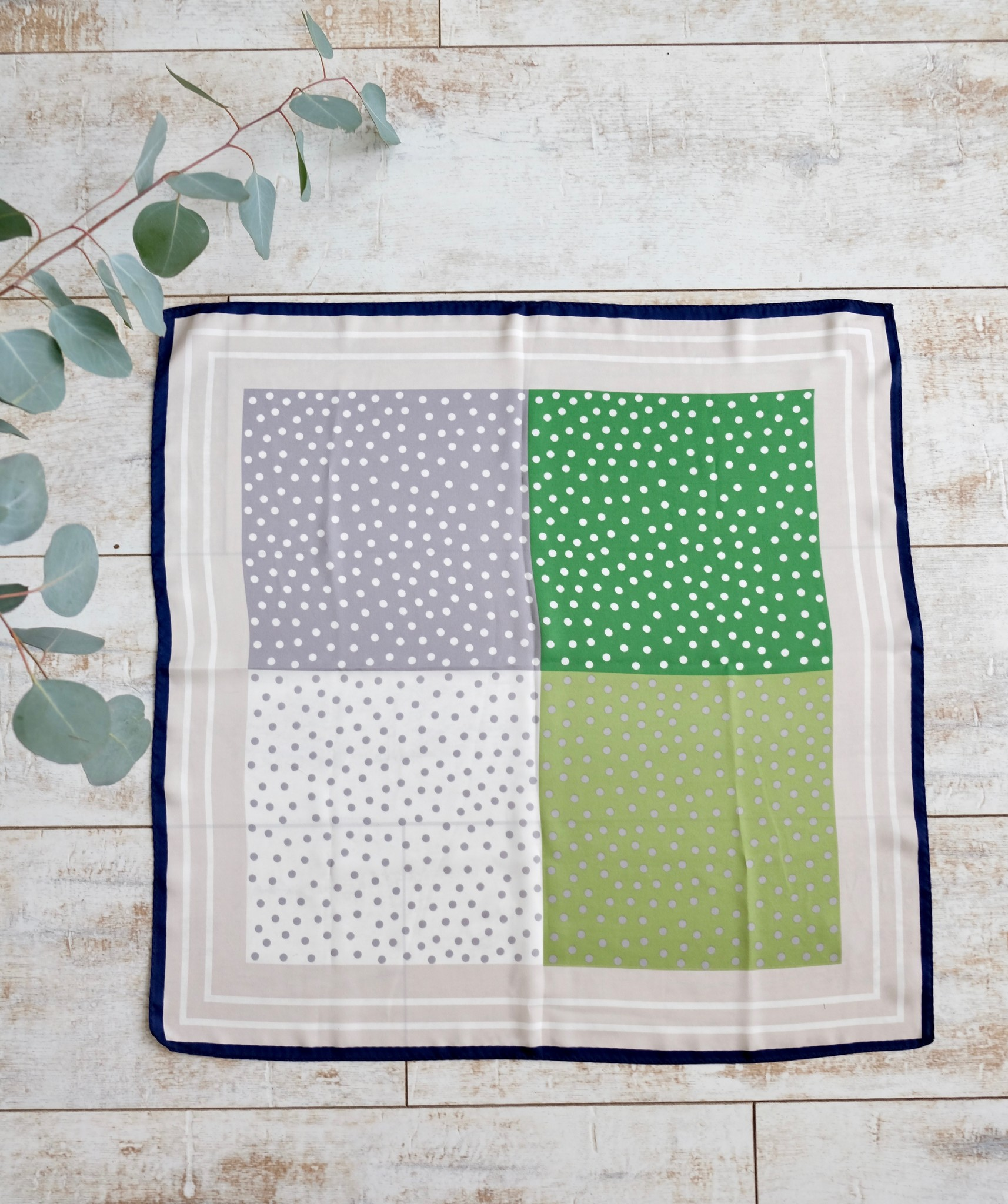 Silky Square Scarf Lg Dots