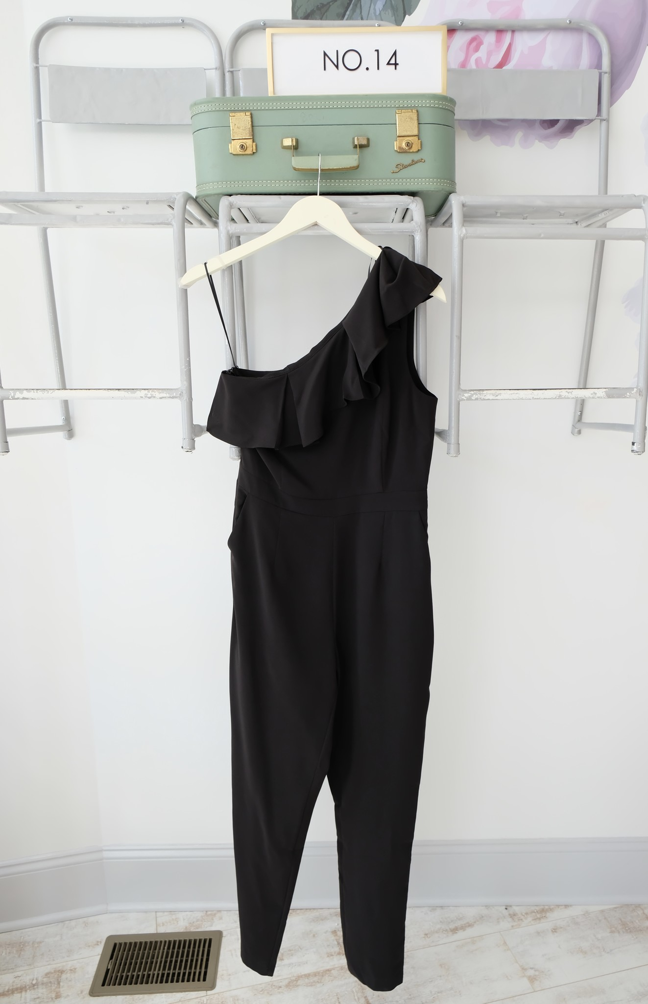 One Shoulder Ruffle Jumpsuit