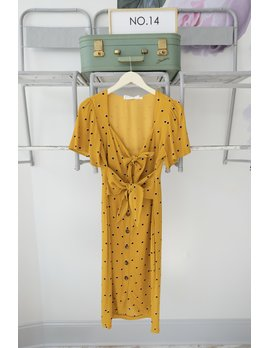 Mustard Tie Front Dress