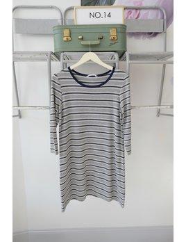 Striped Long Sleeve Tee Dress