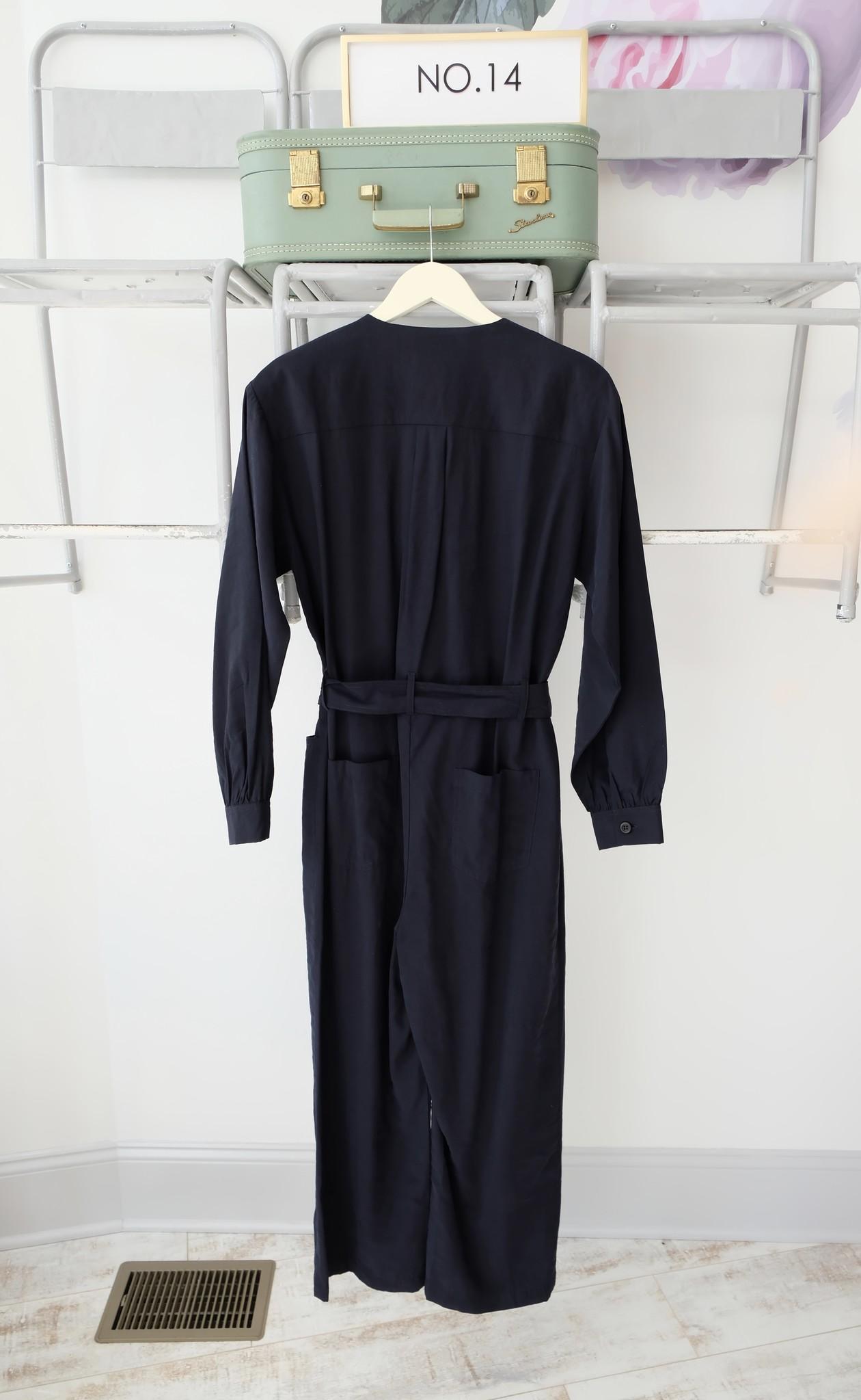Navy Long Sleeve Jumpsuit