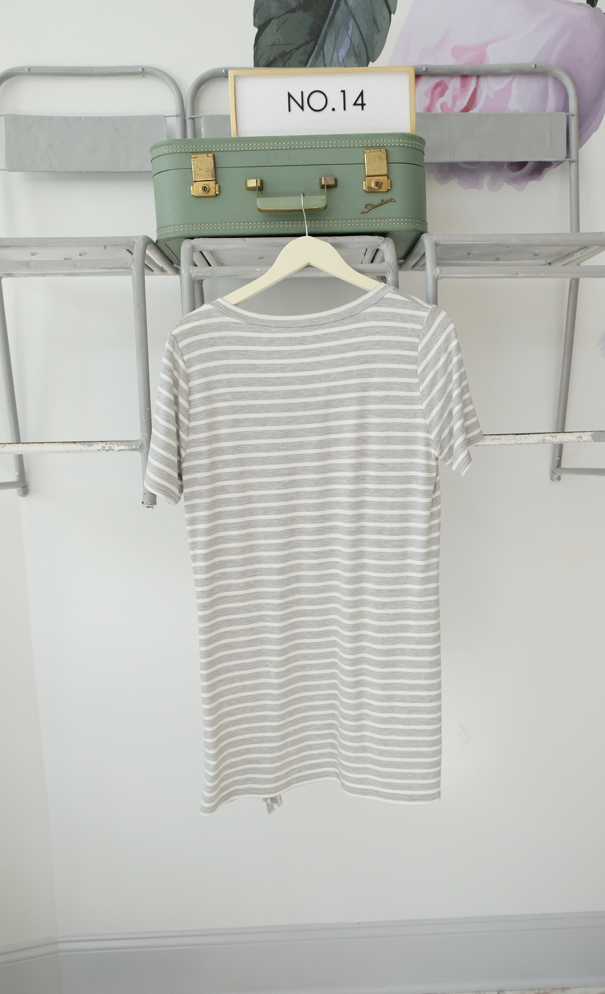 Striped Knot Tee Dress