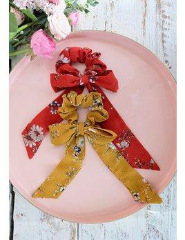 Floral Bow Scrunchie