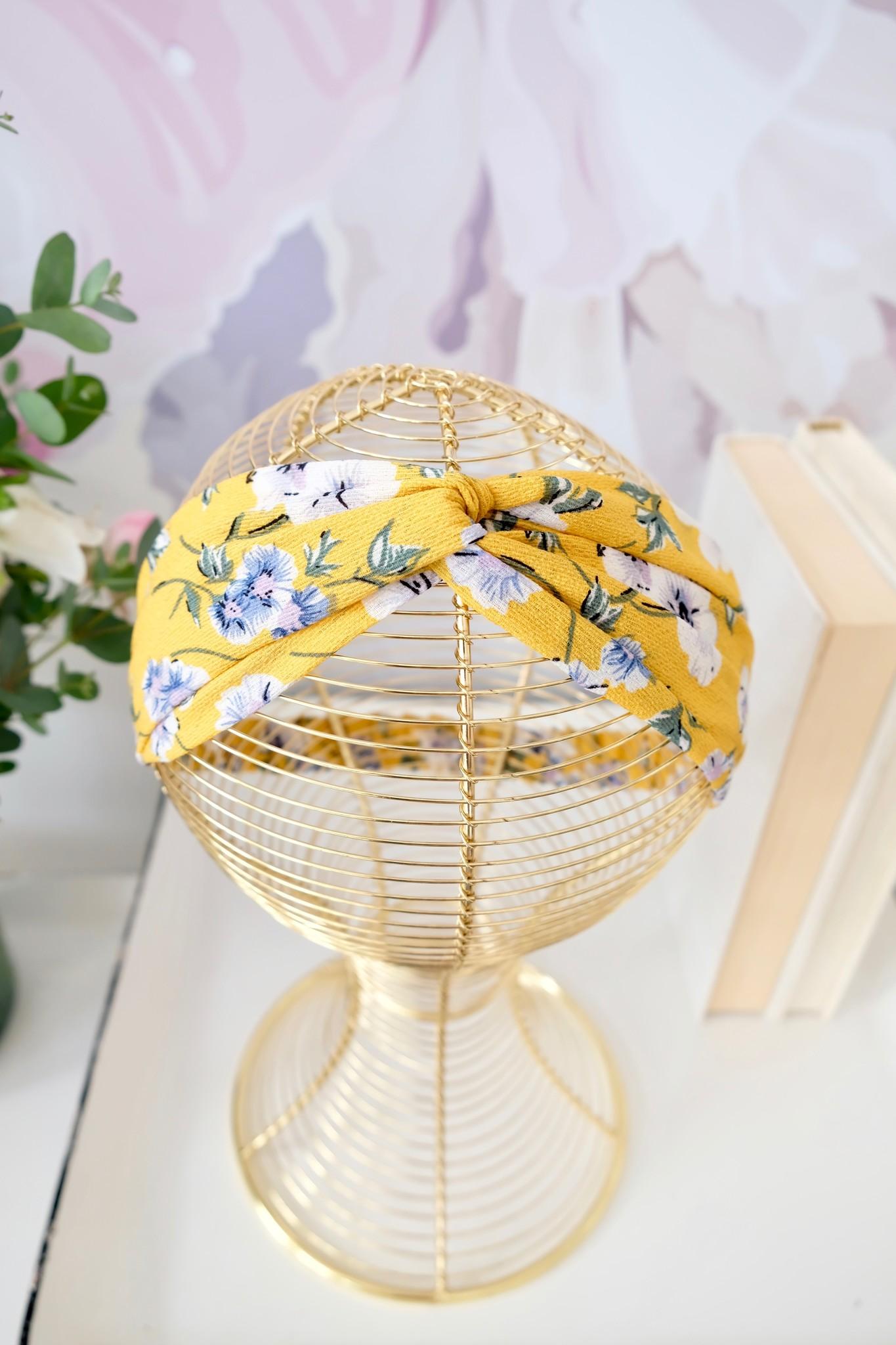 Floral Print Twist Headband