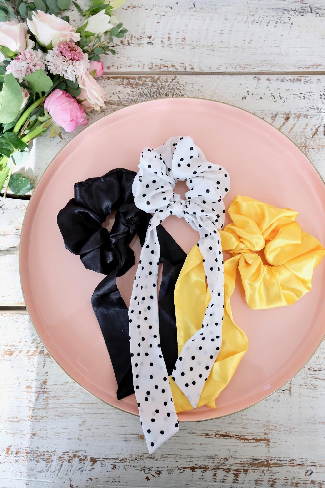Silky Bow Scrunchie
