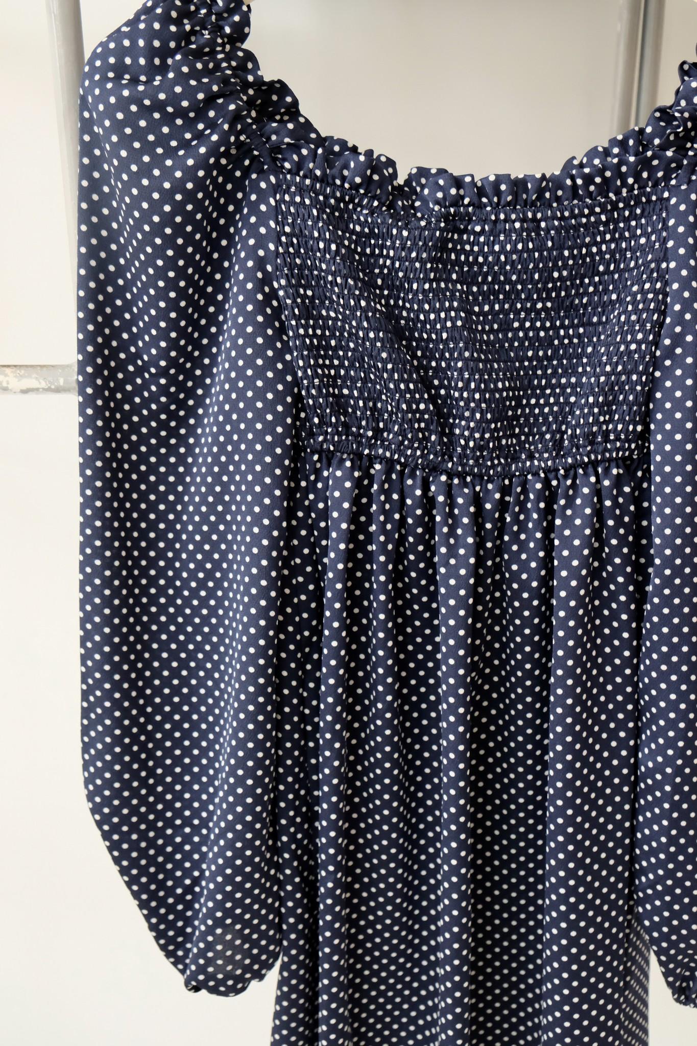Long Sleeve Polka Dot Dress
