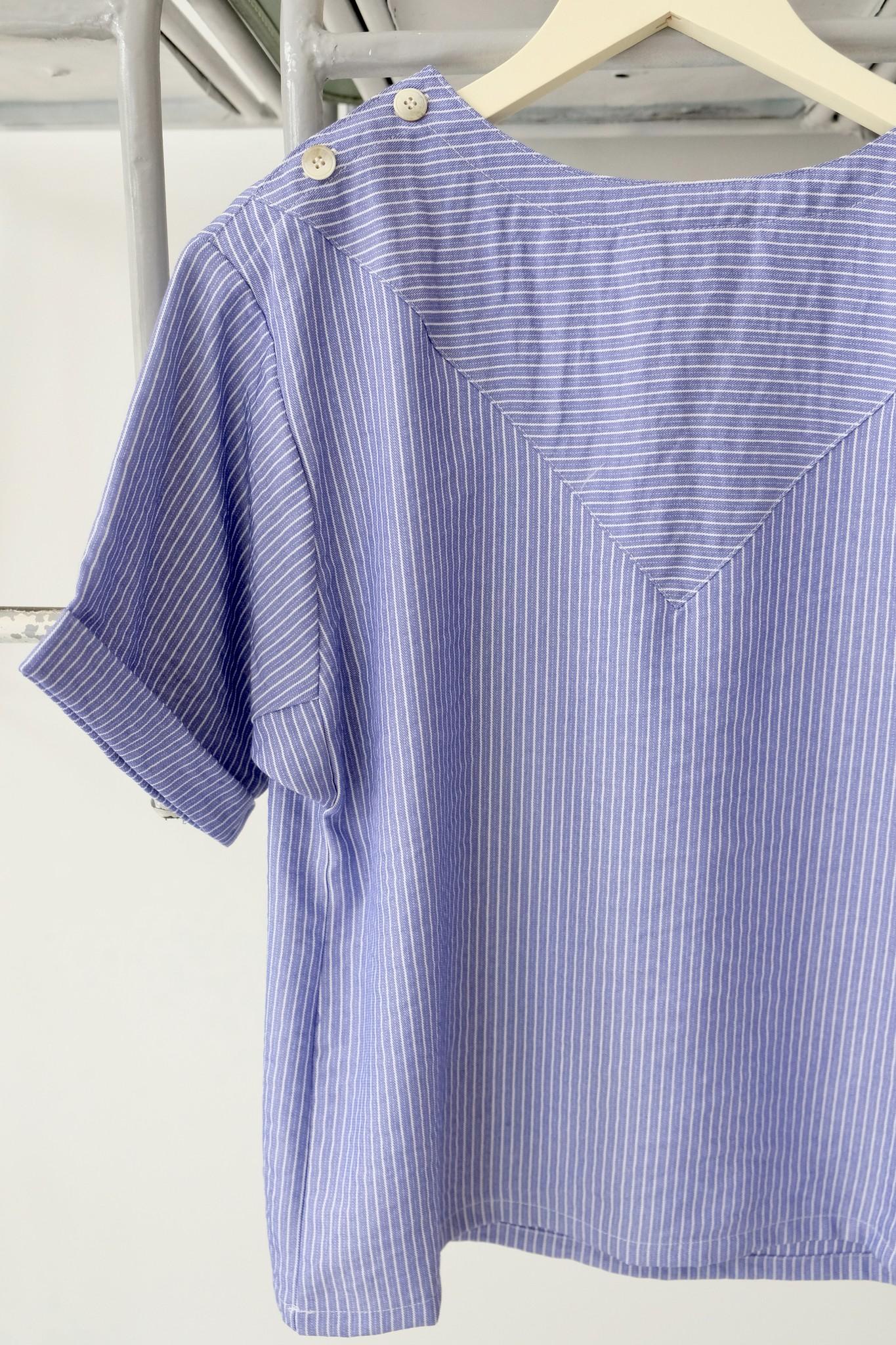 Button Shoulder Blouse