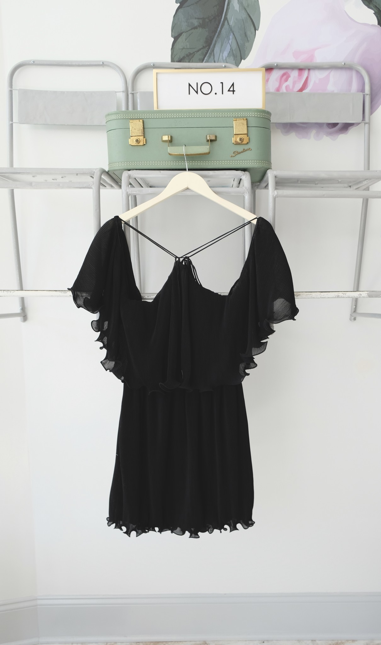 Cold Shoulder Pleated Dress