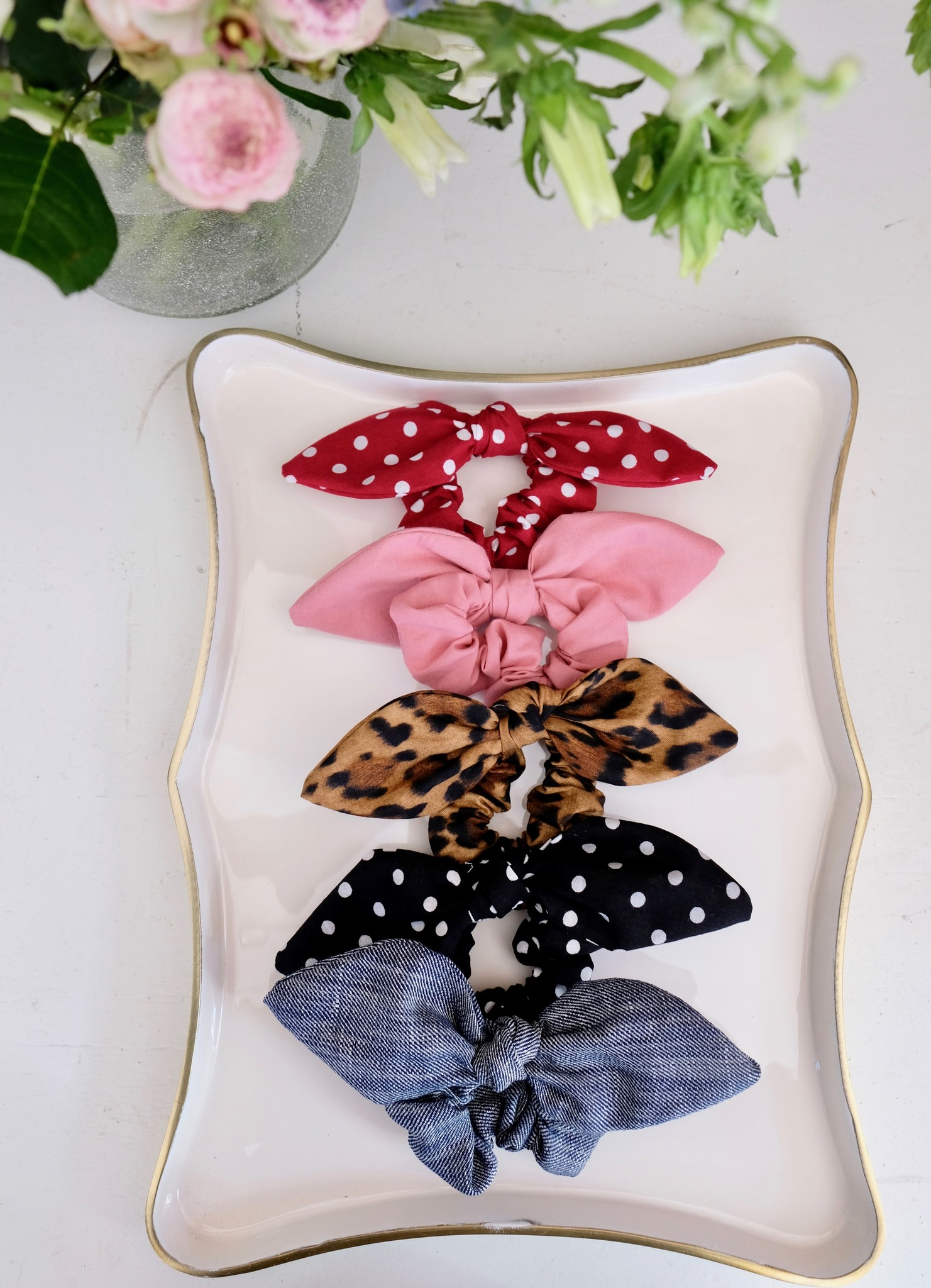 Cotton Bow Scrunchie