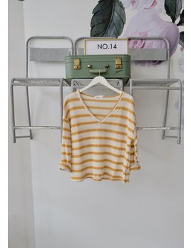 Mustard Striped Knit