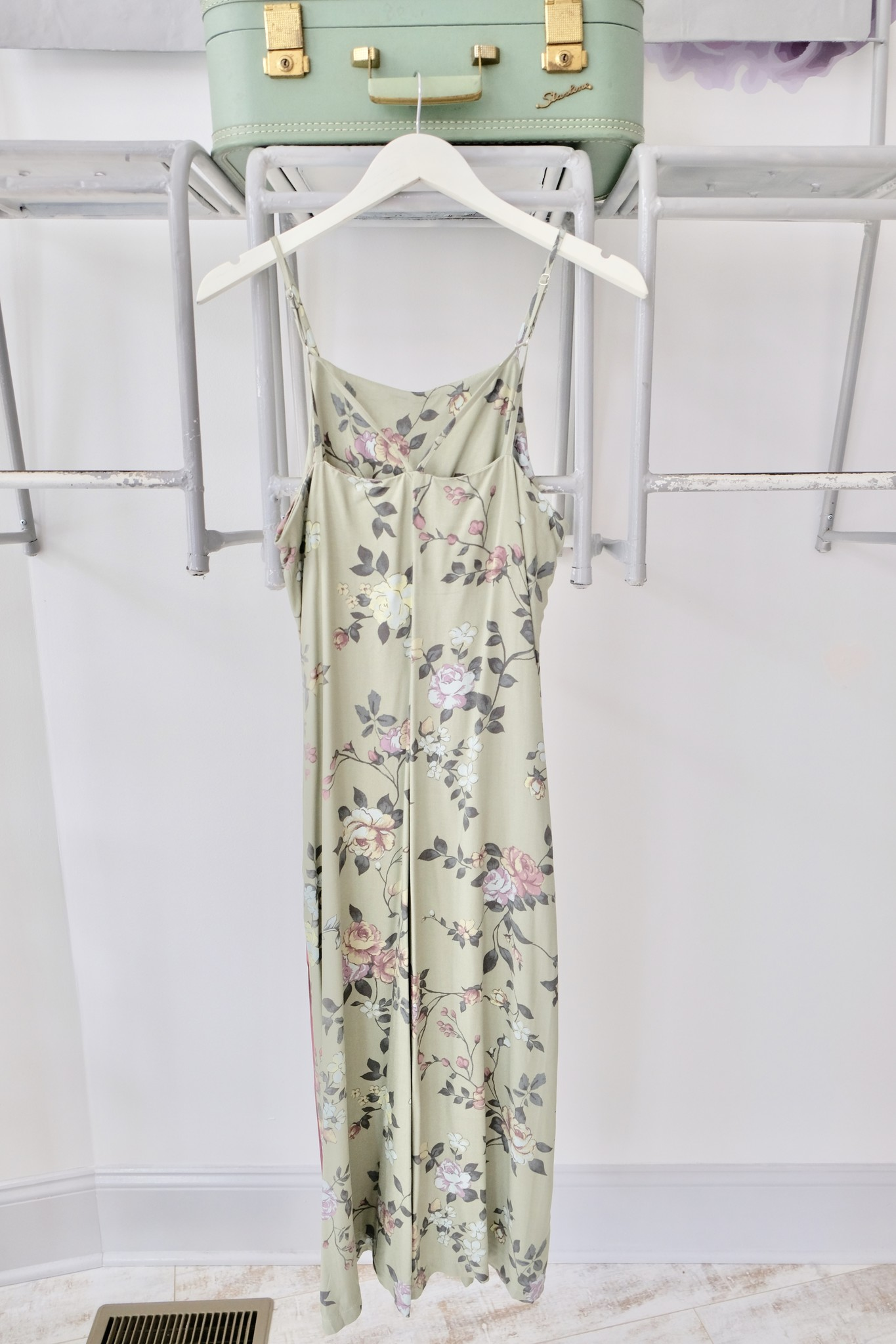 Piped Floral Jumpsuit