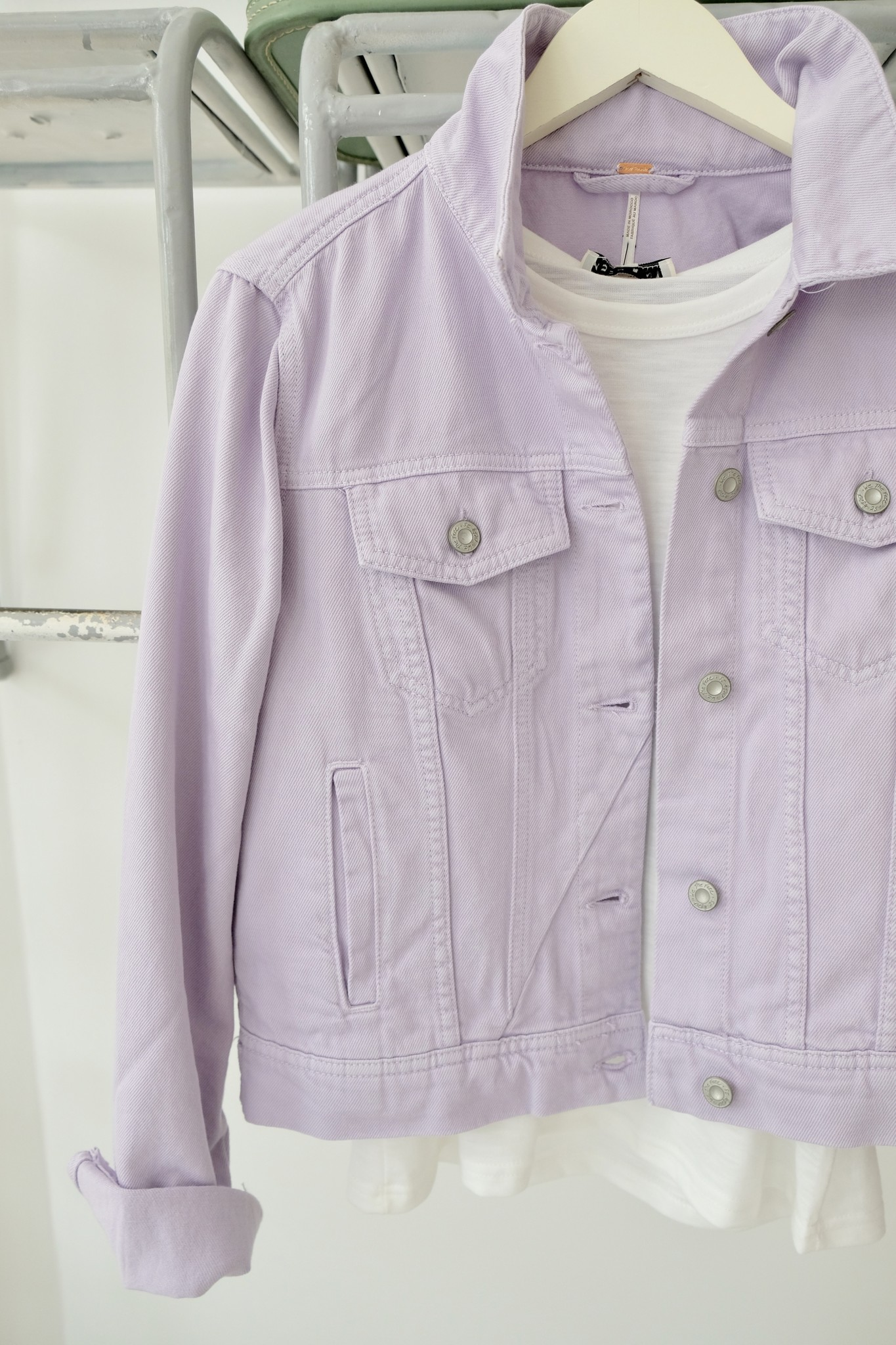 Lilac Denim Jacket