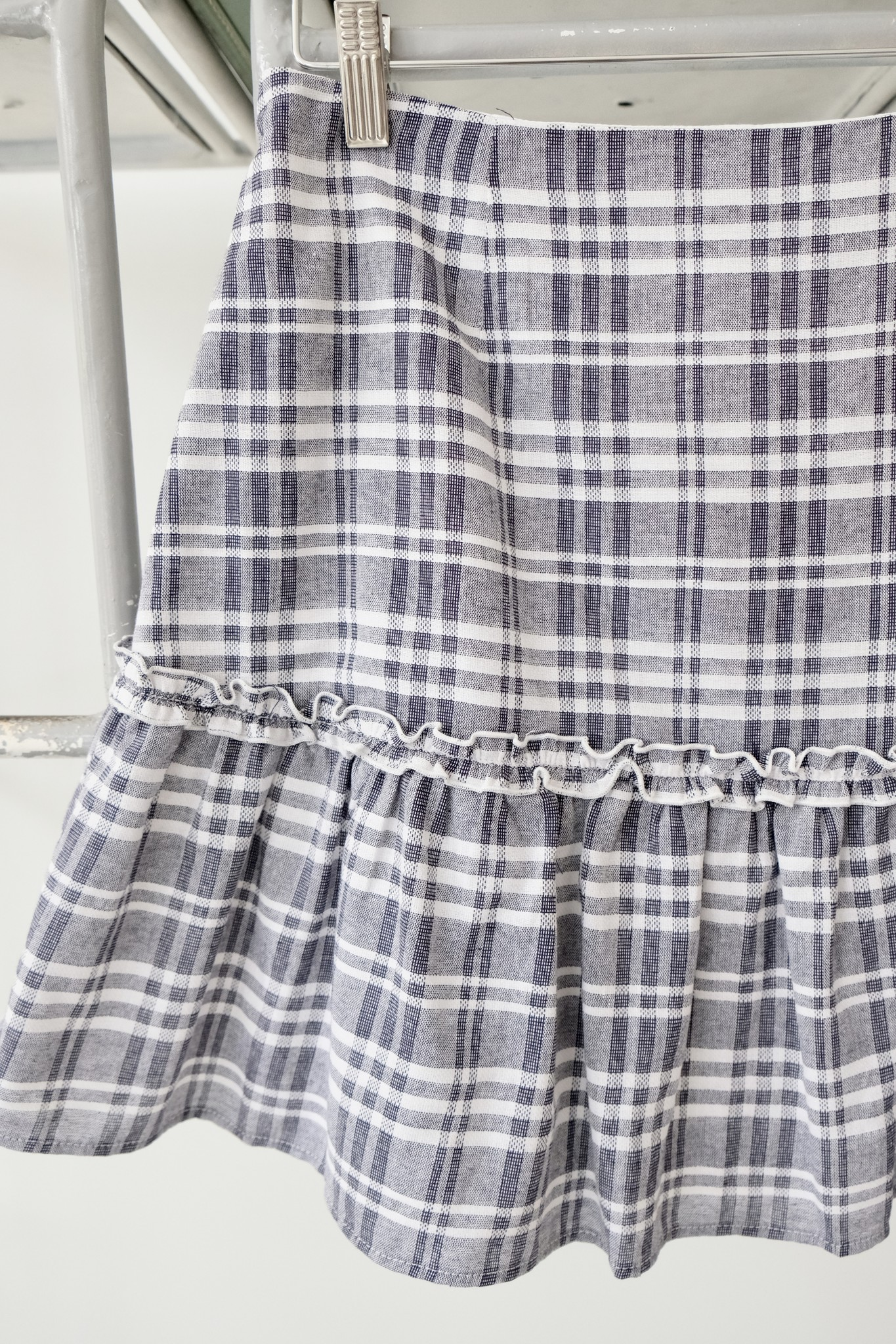 Ruffle Striped Skirt