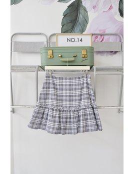 Ruffle Striped Skirt