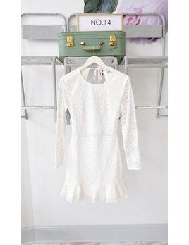 Open Back Long Sleeve Dress