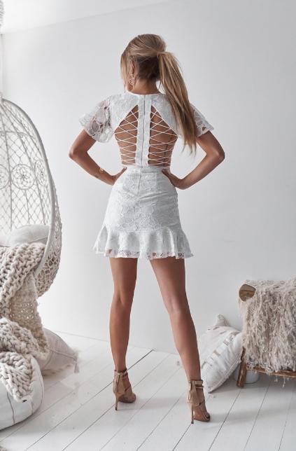 Corset Back Dress