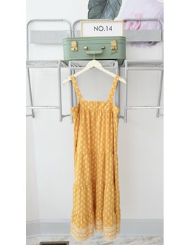Sage the Label Marigold Tiered Maxi