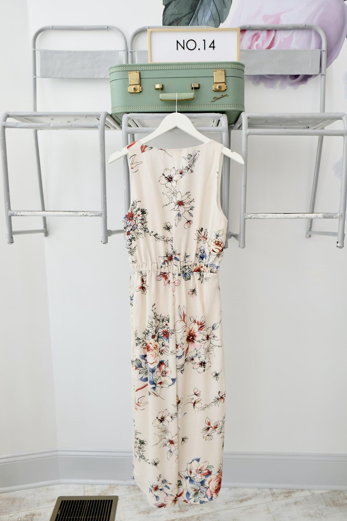 Sage the Label Cream & Floral Jumpsuit