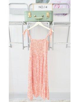 Floral Tie Strap Midi Dress