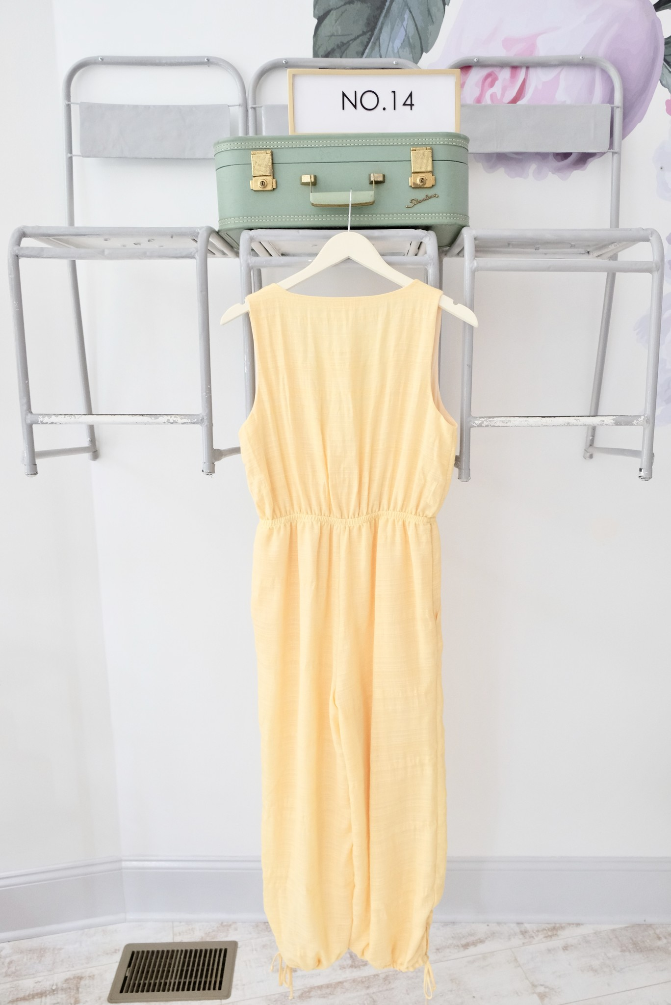 Yellow  Ankle Tie Jumpsuit