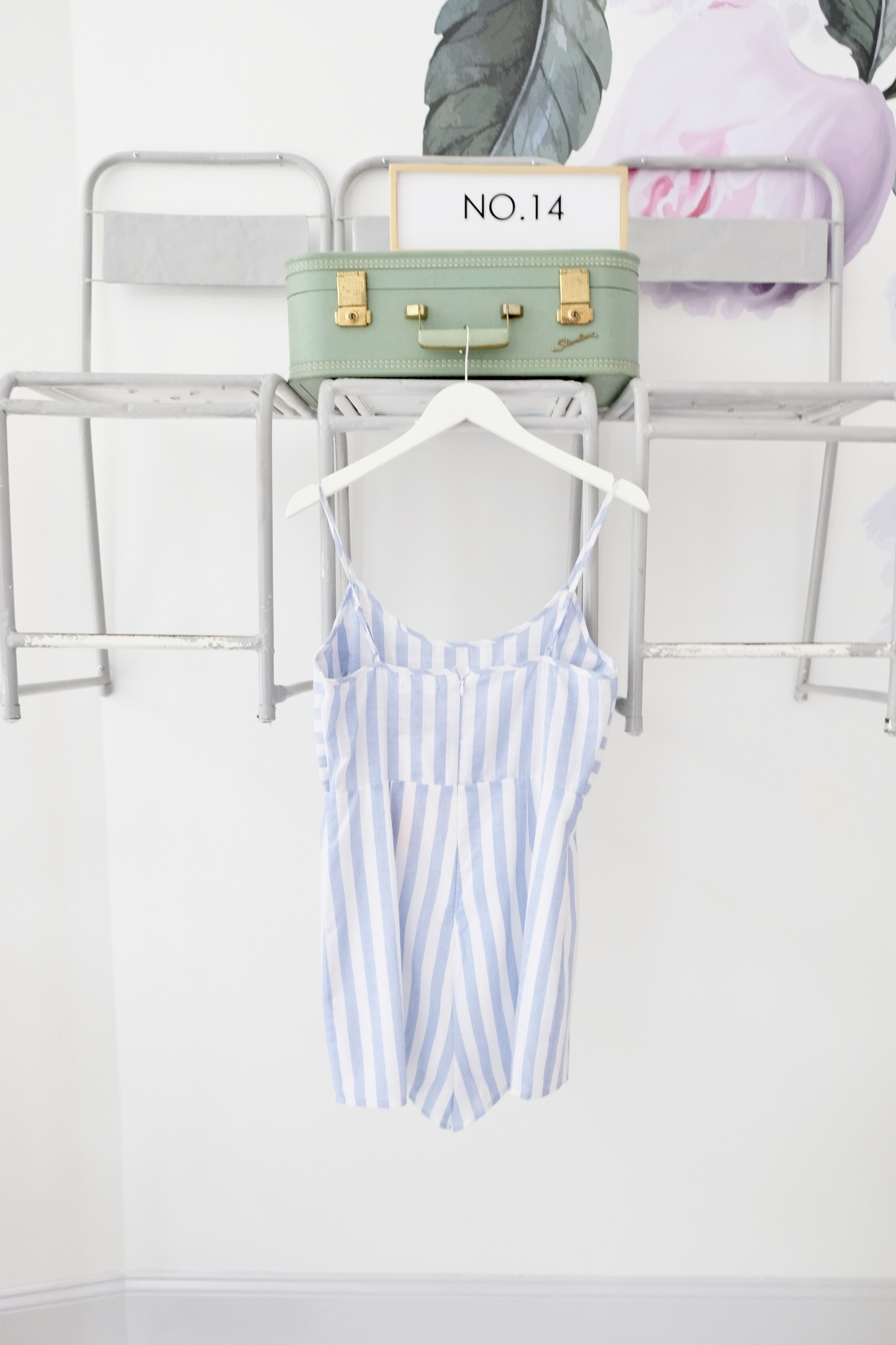 Tie Front Striped Romper