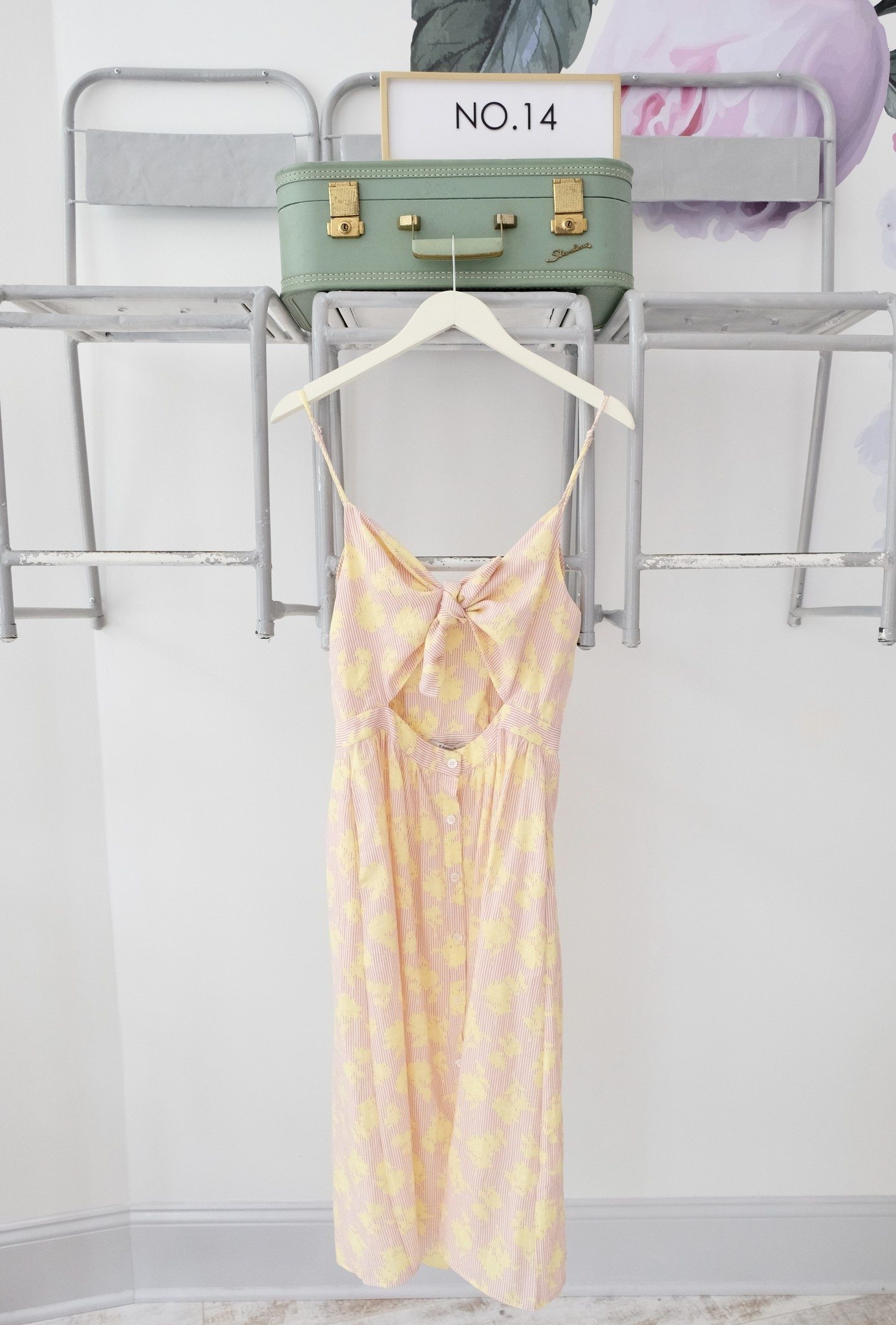 Tie Pink & Yellow Dress